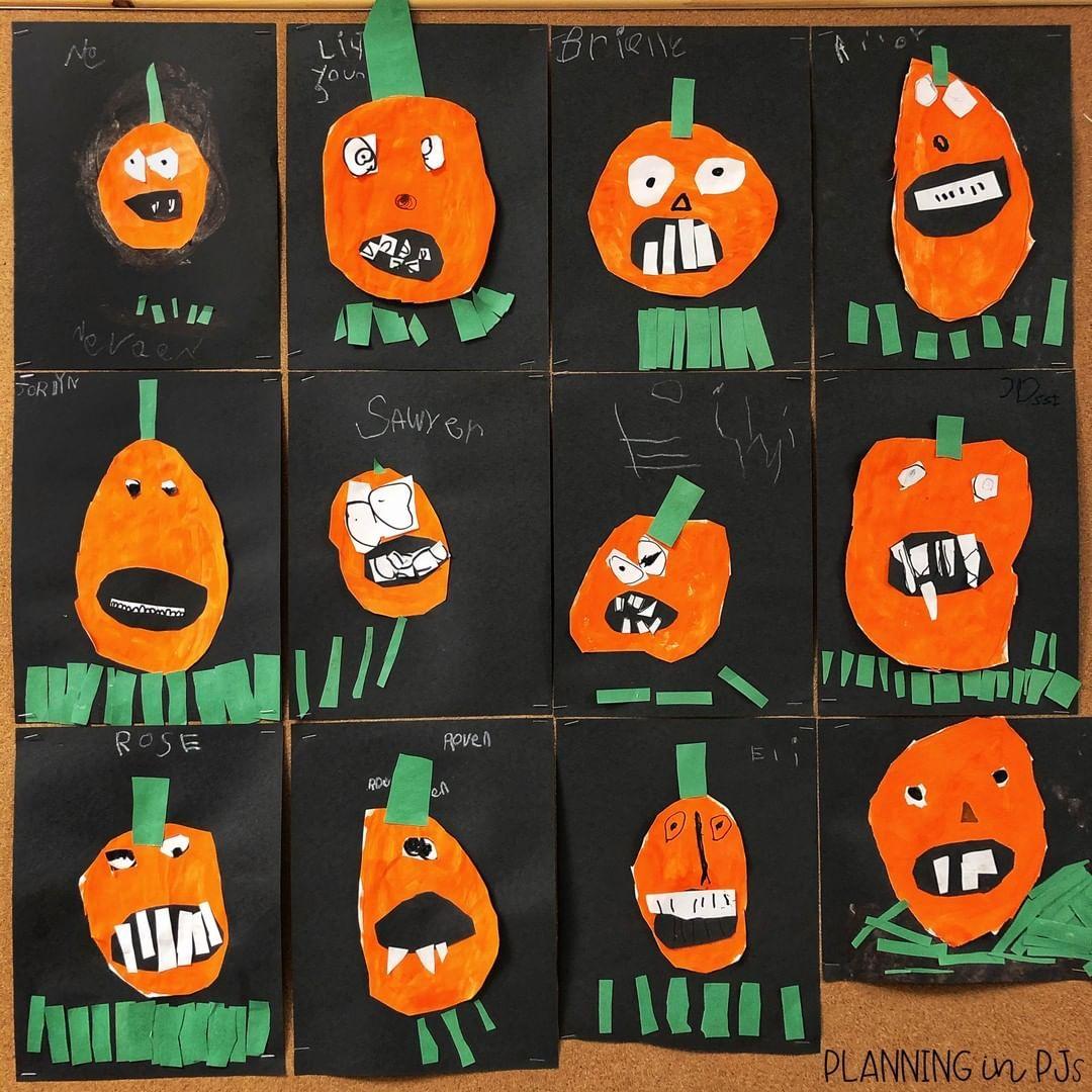 Goofy Pumpkins craft   Kindergarten crafts, Pumpkin activities ...