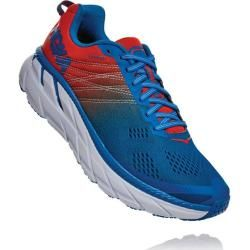 Photo of Hoka men's running shoes Clifton 6, size 47? In Mandarin Red / Imperial Blue, size 47? In mandarin