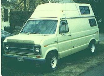 1977 Ford E250 Hightop Camper Van A Very Comfortable Camping Ride Used It For Lots Of Trips In The 70s