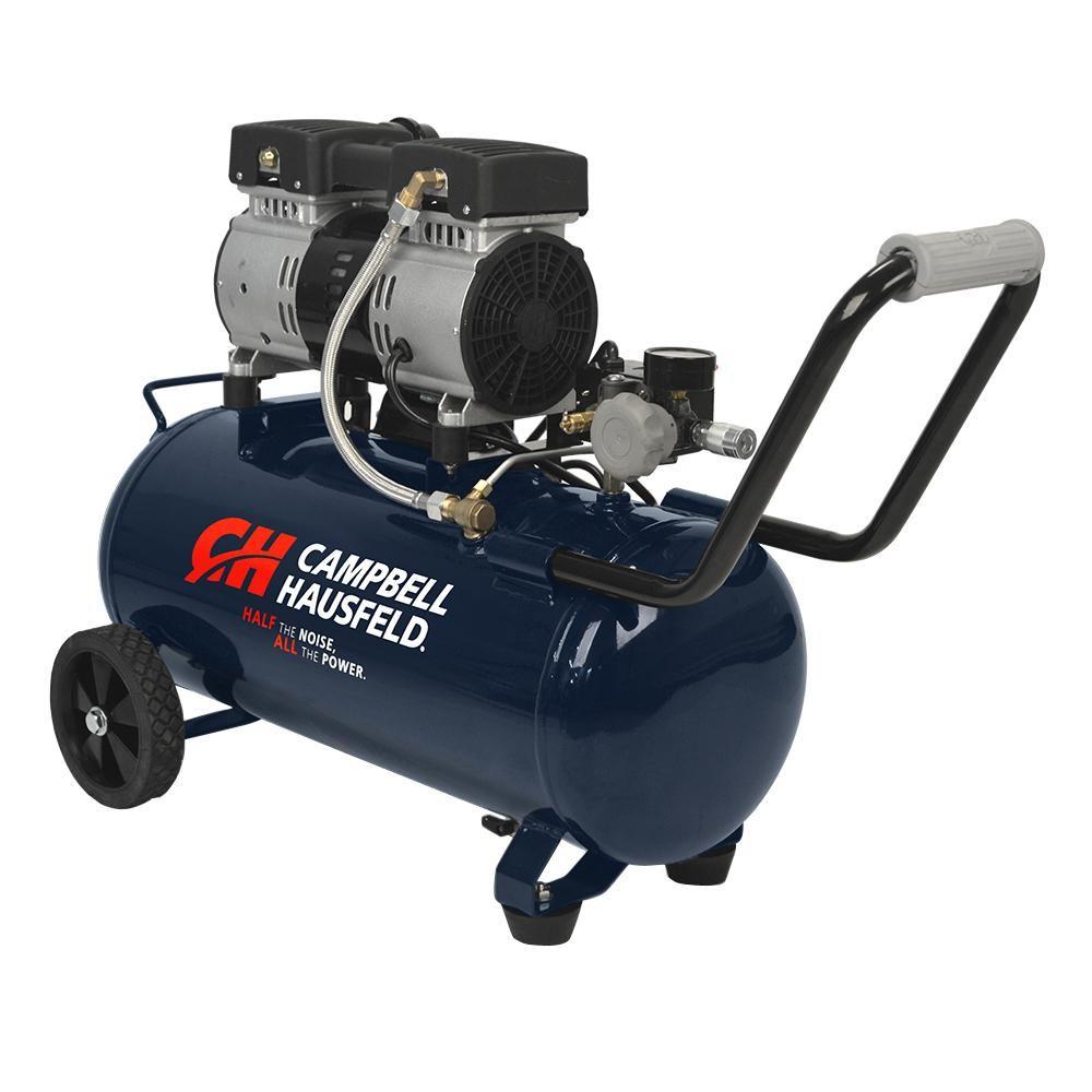 Campbell Hausfeld 8 Gal Electric Quiet Hot Dog Air Compressor Dc080500 The Home Depot Quiet Air Compressor Best Small Air Compressor Portable Air Compressor