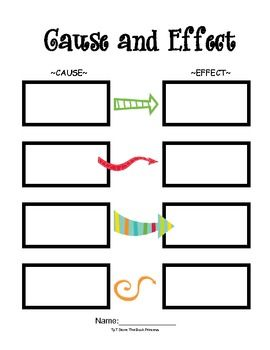 Freebie Cause And Effect Template That Can Be Used With Any Book