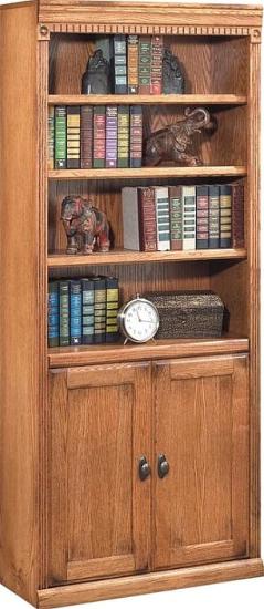 Huntington Oxford Library Bookcase Wheat Furniture Furnishings