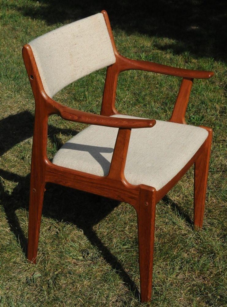 Teak Scandinavian Woodworks Mid Century Danish Modern Captain Arm Dining Chair Scandinavianwoodworks