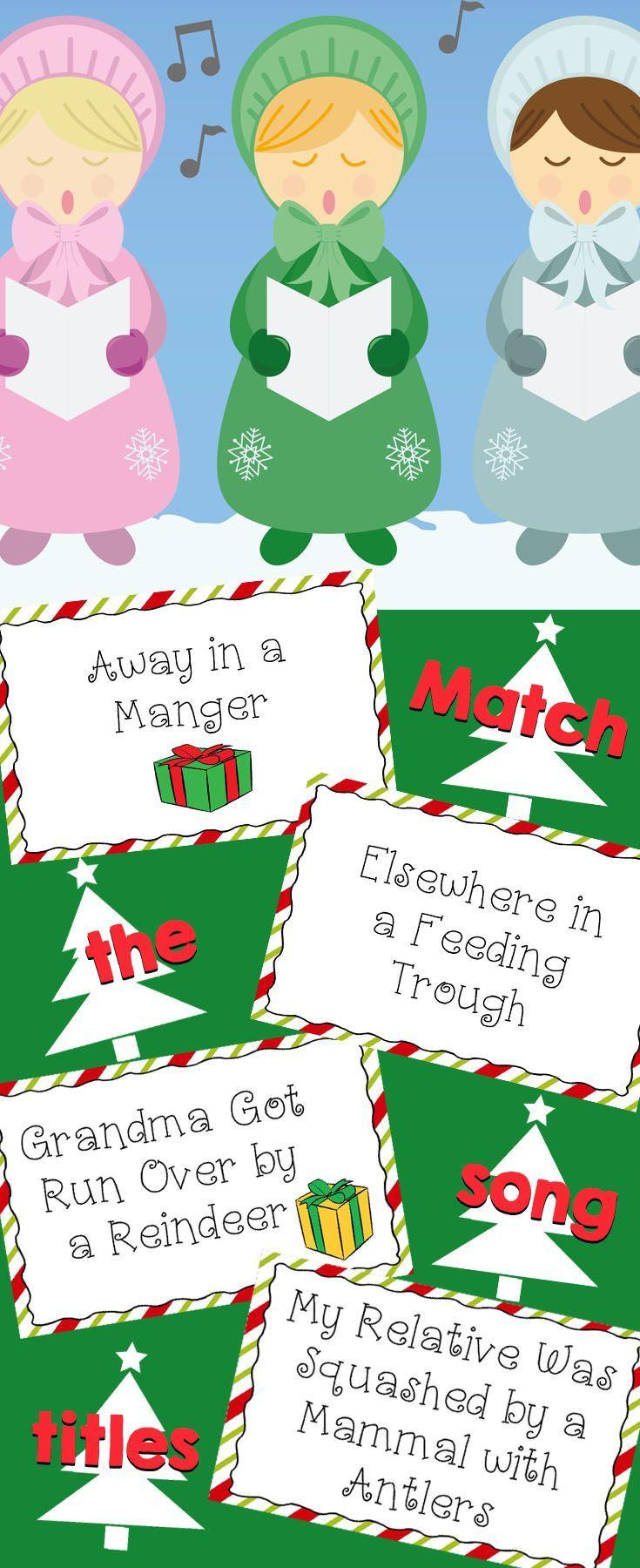 Match 20 Christma Carol Song Title With Their Twin Using Card Or A Worksheet Activities Teaching Paraphrasing Lyrics Lyric
