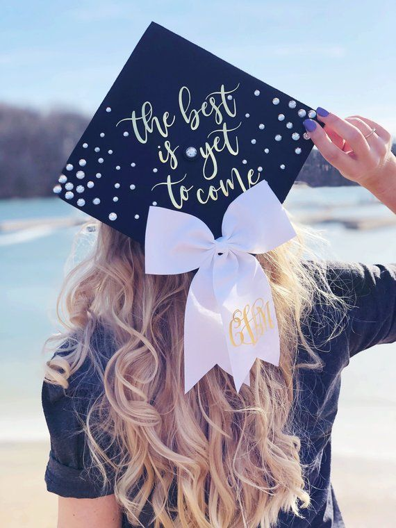 Items similar to Graduation Cap Decal Kit, Custom Grad Cap, Class of 2019, graduation cap decoration, Custom Grad Cap, Cap Topper, the best is yet to come on Etsy