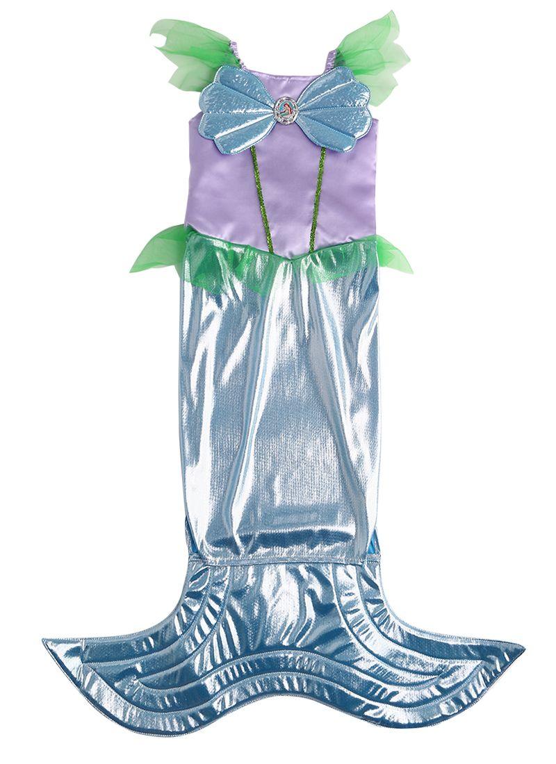 Mode Halloween Kind Mädchen Meerjungfrau Kostüm Langes Kleid Partei ...