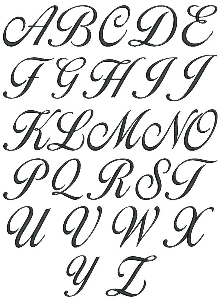 Lowercase Calligraphy Alphabets A-Z