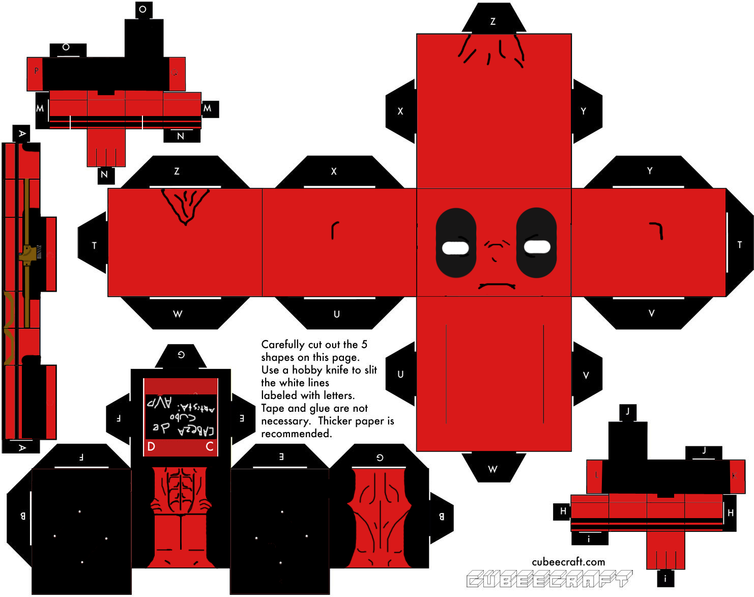papercraft | Papercraft] Deadpool | New Kids On The Geek | File ...