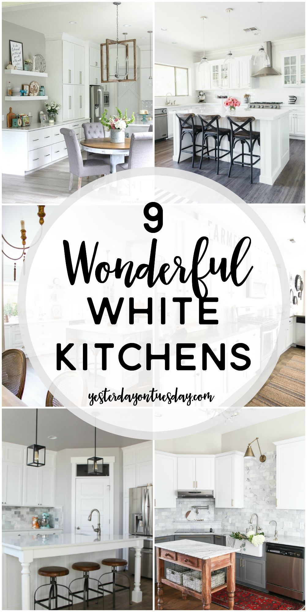 9 Wonderful White Kitchens: A collection if dreamy white kitchens ...