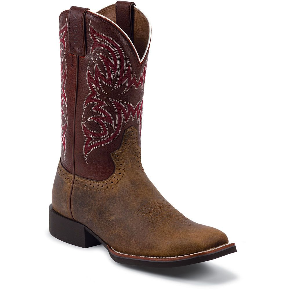 Justin Men S Rugged Cow Western Boots
