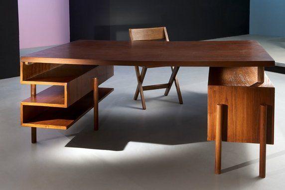 Vintage & Modern Design: Deux Caissons Desk, Paris France