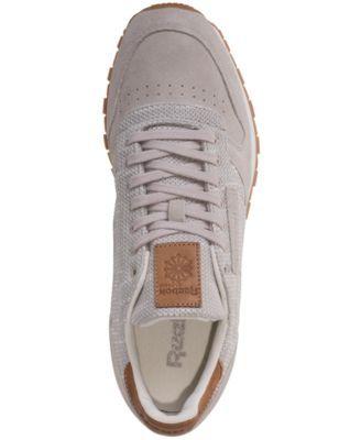de21c4fe7db Reebok Men s Classic Leather Ebk Casual Sneakers from Finish Line -  SANDSTONE CHALK GUM 10.5