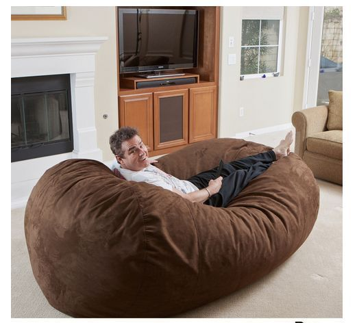 Lounger Bean Bag 8 Ft Long 6 Ft Wide Faux Suede Microfiber ECO Friendly  Comfort #
