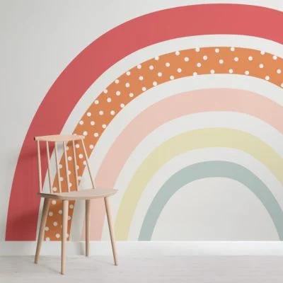 Cute Colourful Rainbow Nursery Wallpaper Mural