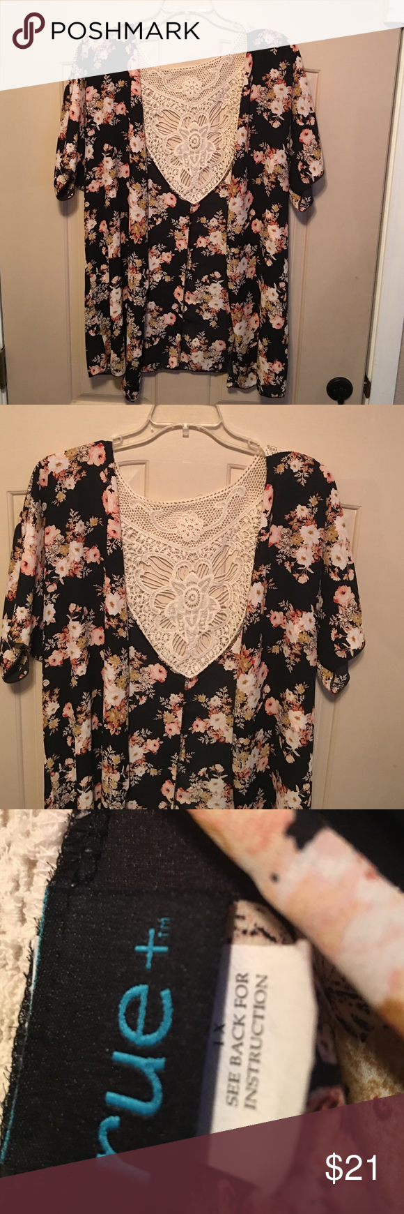 Plus size 1x kimono RUE 21 PRICE IS FIRM. Like NEW! Only wore it 1x. Rue 21 Other