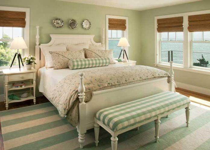 Grüne Schlafzimmer -