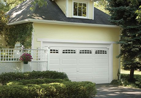 Clopay Classic Collection Elegant Long 3 Layer Doors With Charleston 608 Windows Garage Doors Residential Garage Doors Affordable Garage Doors