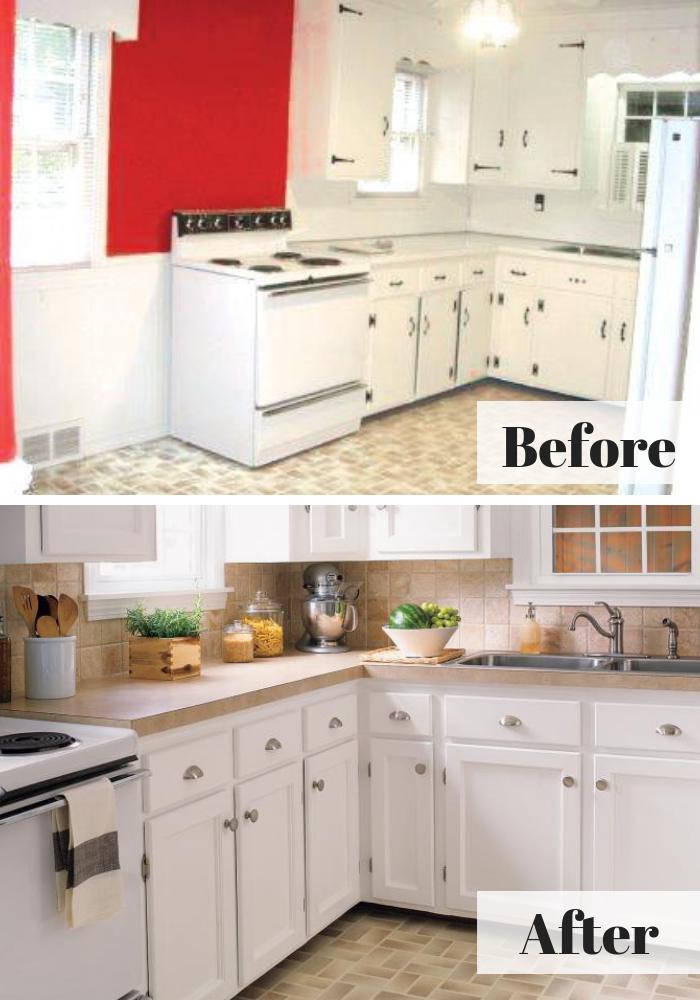 A Charming Kitchen Revamp For 1 527 Kitchen Remodel Kitchen Renovation Charming Kitchen