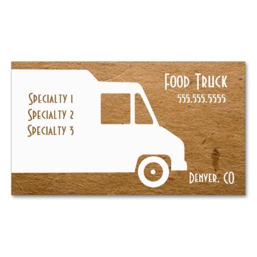 Food Truck Business Card Template Zazzle Com Food Truck Business Food Truck Qr Code Business Card