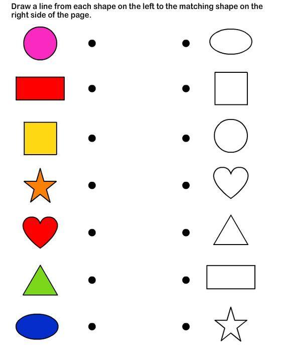 Shapes - math Worksheets - preschool Worksheets ...