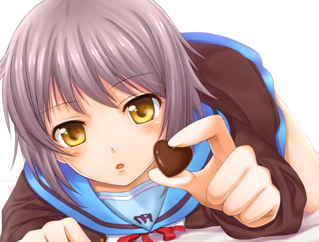 More Anime Valentineu0027s Day Art. Nagato Yuki From The Melancholy Of Suzumiya  Haruhi.