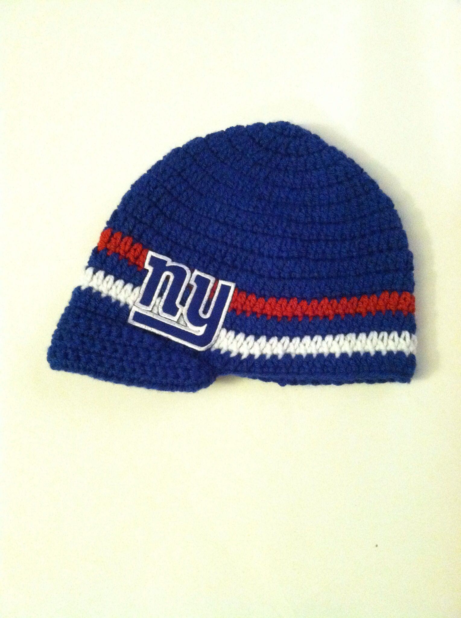 Crochet New York Giants newsboy style hat. $25 | Creations By Jackie ...