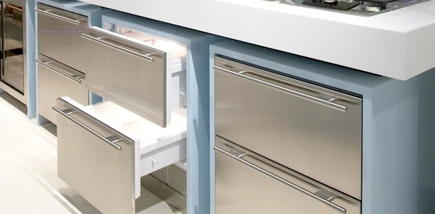 Icb700br Integrated Undercounter Refrigerator Drawers From