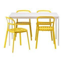 IKEA - MELLTORP / REIDAR, Mesa con 4 sillas, , | AMARILLO YELLOW ...