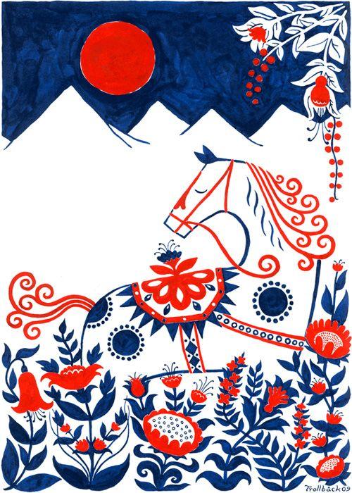 Dala Horse Poster By Henning Trollback The Dala Horse Is A Swedish