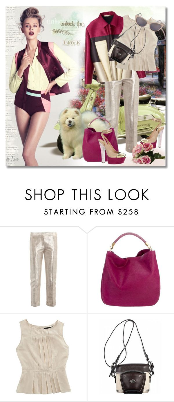 """APRIL 17th, 2012"" by deneve ❤ liked on Polyvore featuring H&M, Yves Saint Laurent, Alexander McQueen, Balenciaga, Marc by Marc Jacobs, Proenza Schouler and Le Specs"