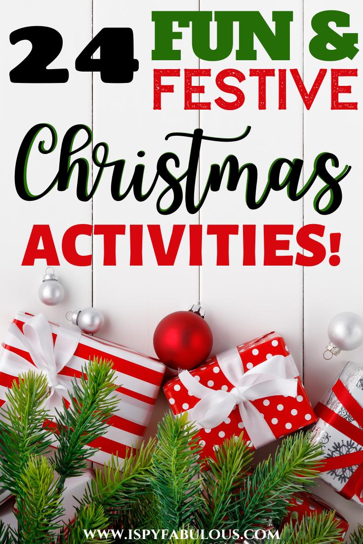 24 Christmas Activities Countdown Free Printable Christmas Activities Diy Christmas Activities Holiday Printables