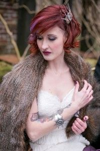 Steampunk Wedding Hair Makeup By Southern Sirens Photo Star Noir Studio