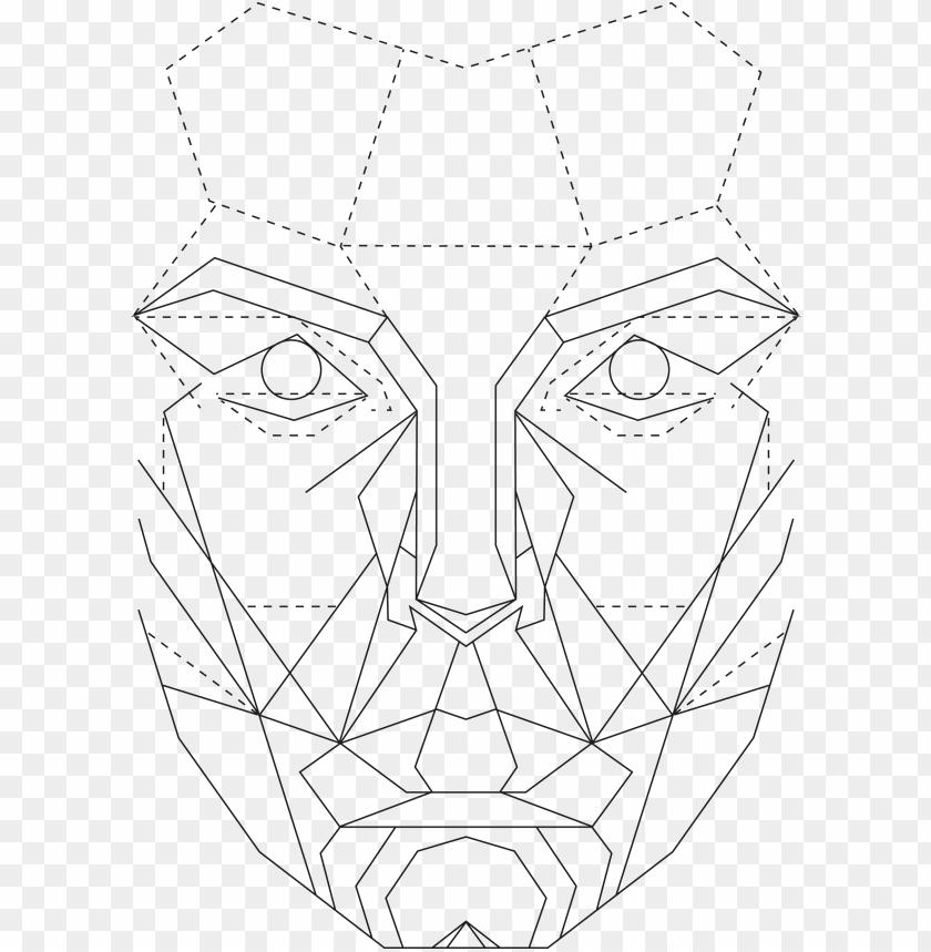 חינם Png יחס הזהב בגרפיקה תמונת Png של תבנית פנים מושלמת מושלמת עם תמונת Png רקע שקופה Face Template Geometric Face Face Outline