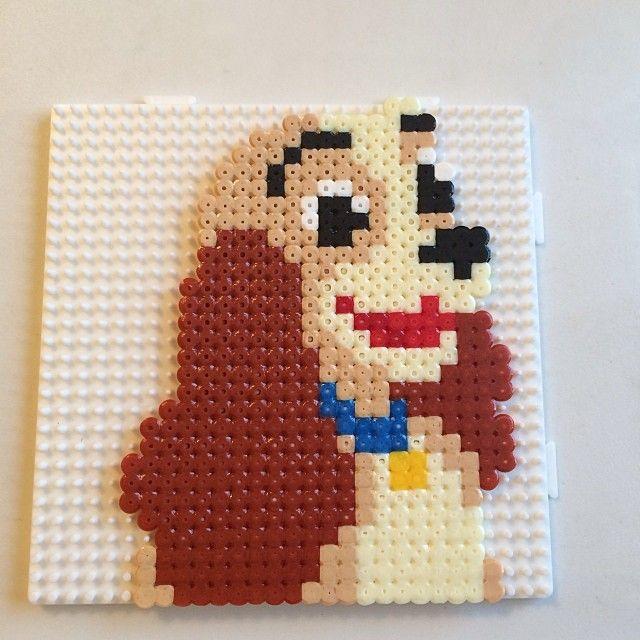 Disney Lady hama beads by skittle3391