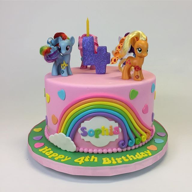 My Little Pony Cake Happy 4th Birthday Sophia Mylittlepony