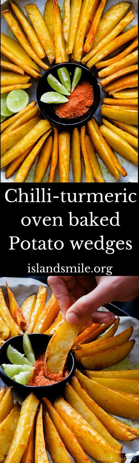 crispy potato oven fries with chilli and turmeric(5 ingredient). | Island smile
