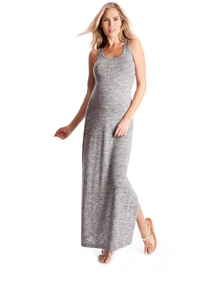 Robe grise de grossesse