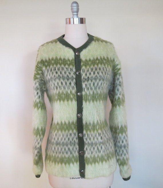 Cardigan Sweater 1950s Women Gray Wool Soft* Med NEW Vintage Pendleton Size 40