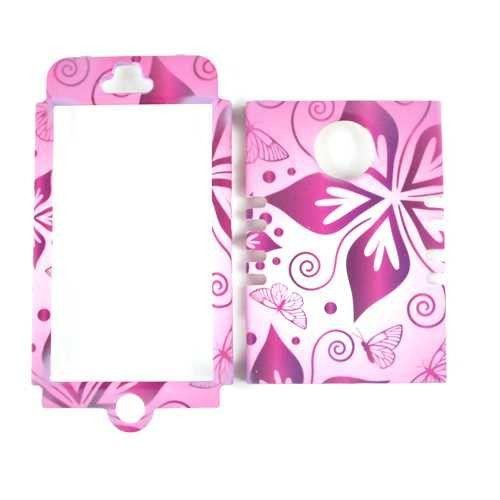 Unlimited Cellular Rocker Snap-On Case for Apple iPhone 5 (Flower on Pink)