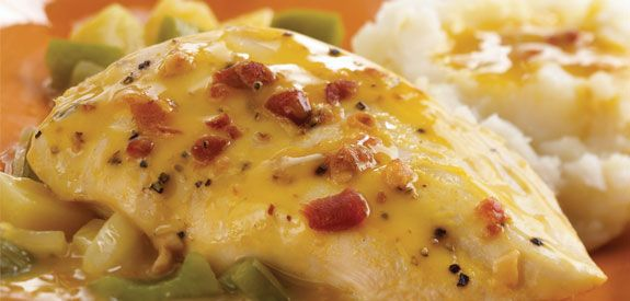 Cheddar beer chicken in the Crock Pot sounds perfect for week nights.