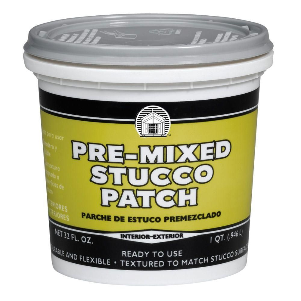 Phenopatch 1 Qt Pre Mixed Stucco Patch 64811 The Home Depot Stucco Patch Stucco Repair Stucco