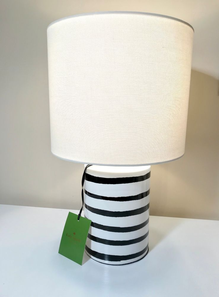 Kate Spade New York Black And White Stripe Table Lamp