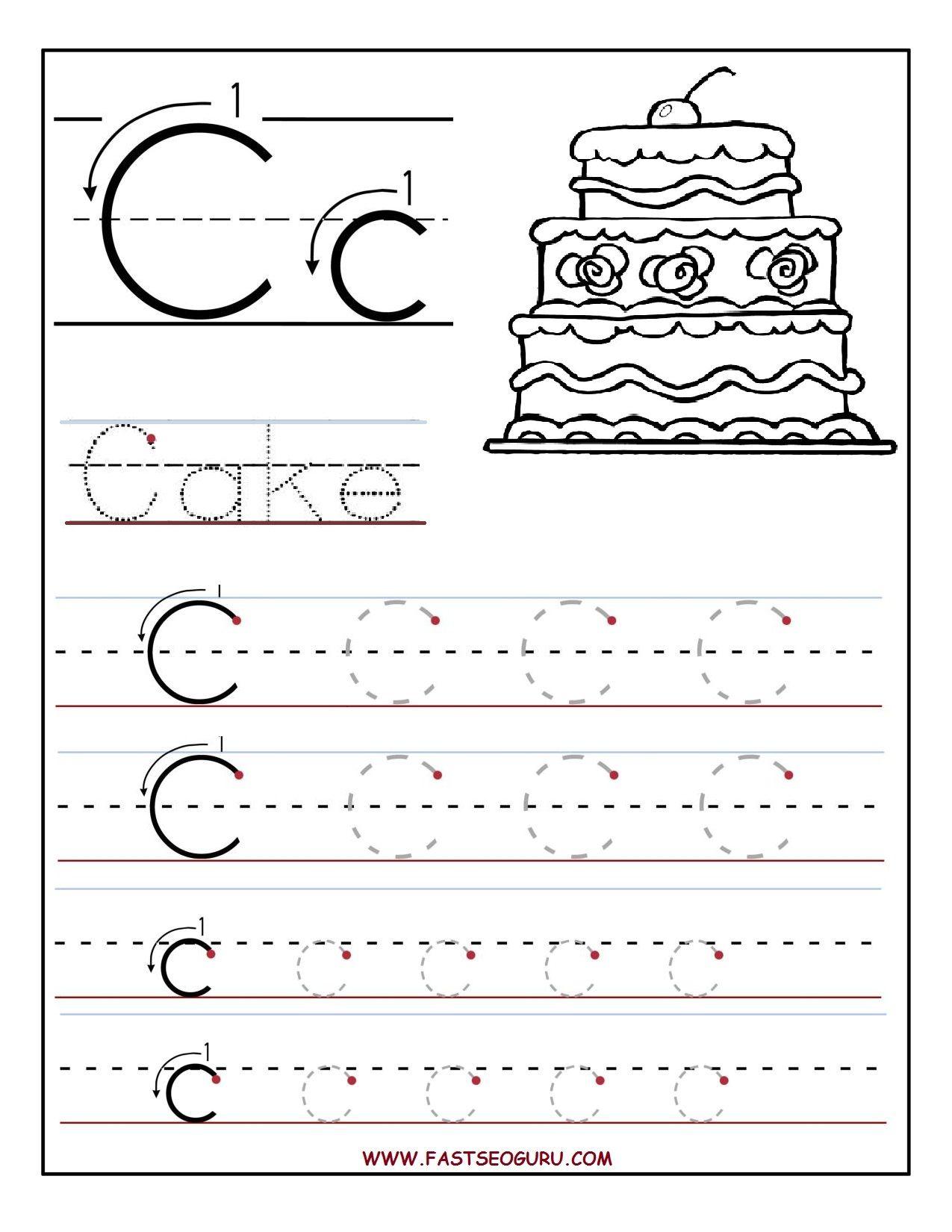 Printable Letter C Tracing Worksheets For Preschool Jpg 1 275 1 650 Pixels Alphabet Worksheets Preschool Tracing Worksheets Preschool Free Preschool Worksheets