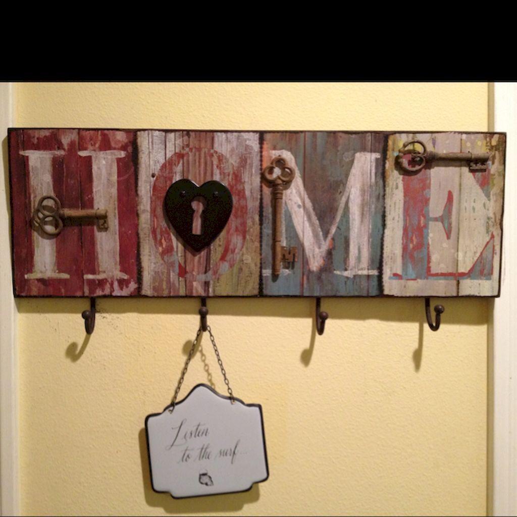 40 DIY Key Holder for Rustic Home Decor Ideas | Diy key holder, Key ...