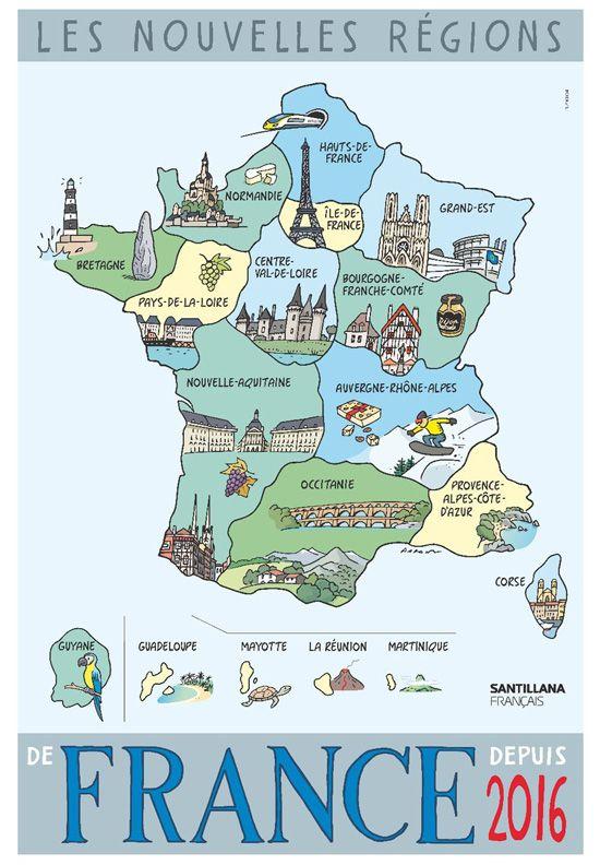 Fle En Eso Nuevas Regiones Nouvelles Regions Les Regions De