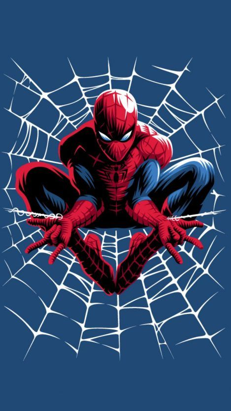 Spiderman Web Art IPhone Wallpaper 1 - IPhone Wallpapers