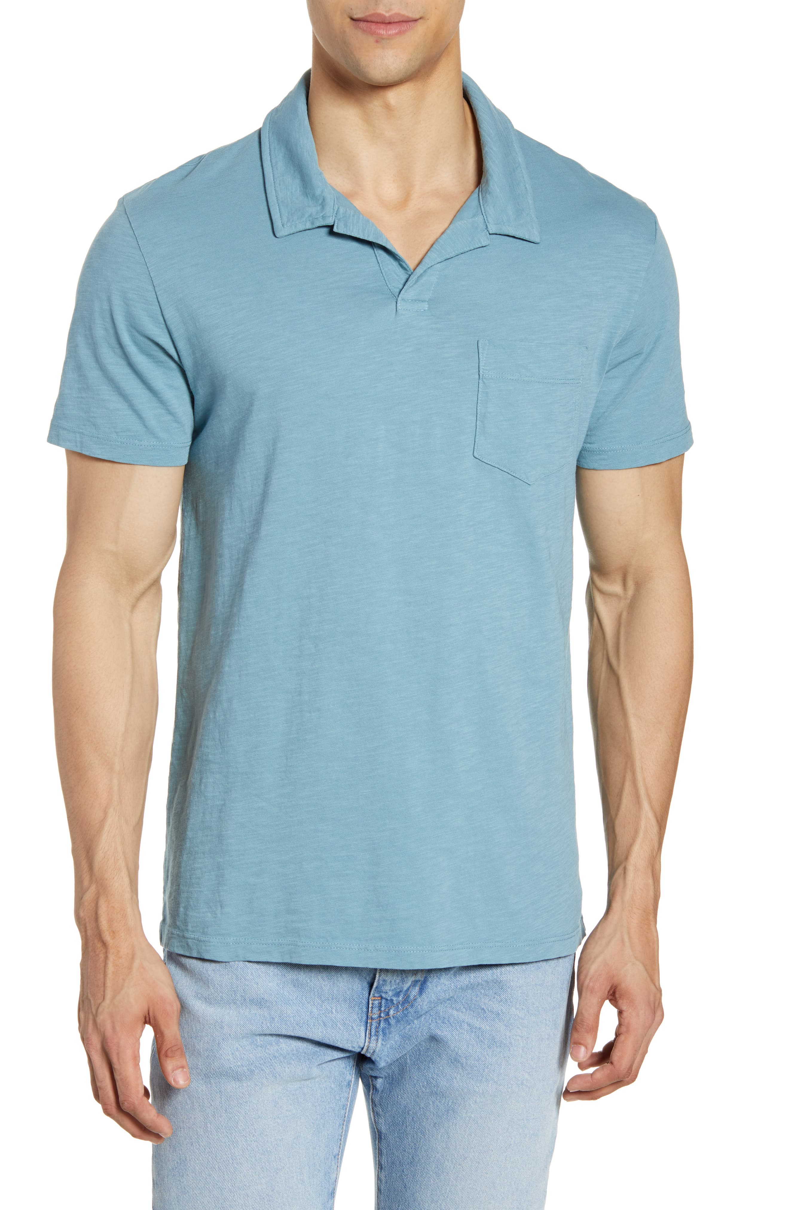 e127181065d Men's Todd Snyder Johnny Collar Polo, Size X-Large - Blue | Products ...