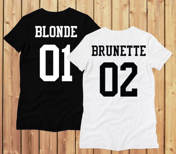 1001 id es blonde tee shirts et brun. Black Bedroom Furniture Sets. Home Design Ideas