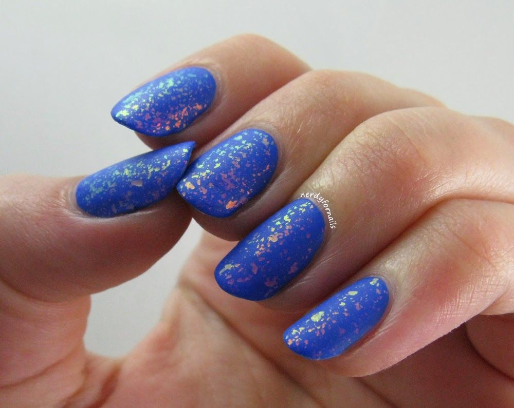 Sinful Colors Endless Blue with Matte Flakies | Nerdy For Nails ...