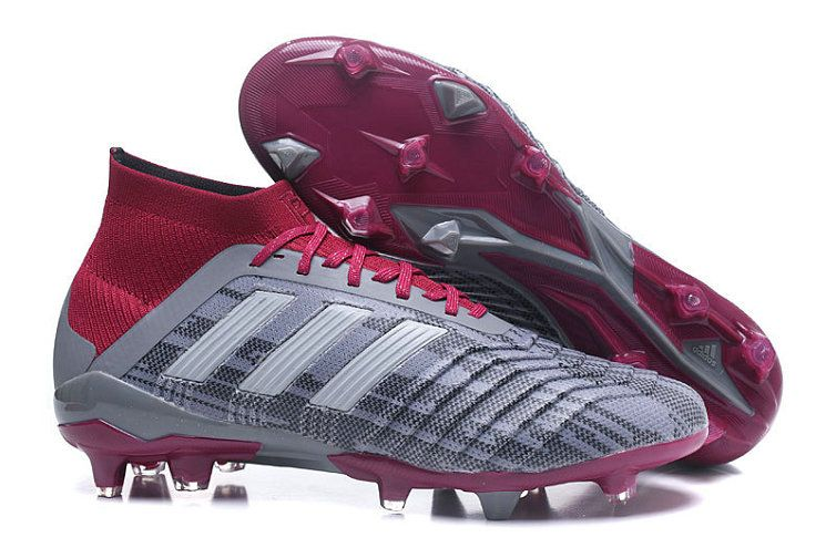 Mens Shop Adidas x Paul Pogba Predator 18+ FG 2018 Word Cup Grey Burgundy 7bb0addee1ec5